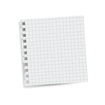 Blank square grid reminder paper note vector