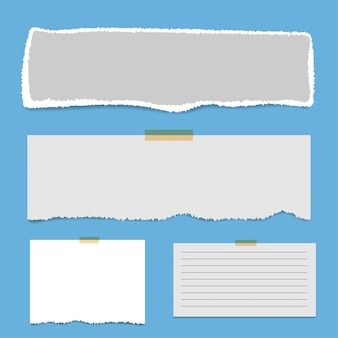 Blank squared notepad pages and tape