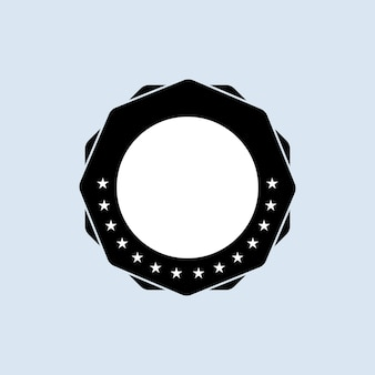 Blank stamp set. . blank badge icon. certified badge logo.