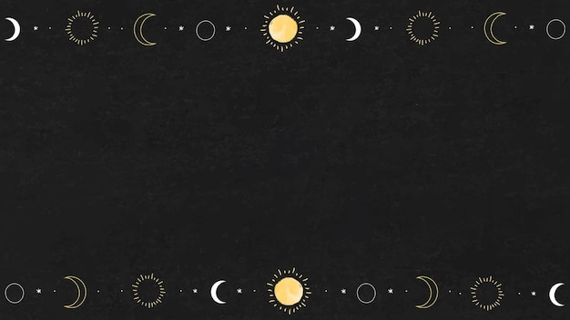 Blank sun and moon elements