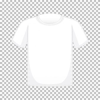 Blank t shirt on transparent