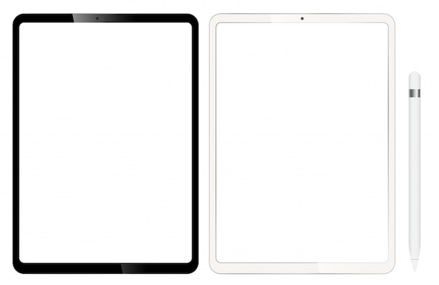 Blank tablets or ipad. comes with a pen for design.