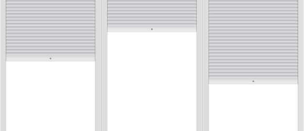 Blank template of background with roller shutters.