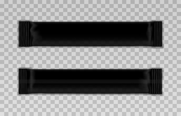 Blank template of black packing stick