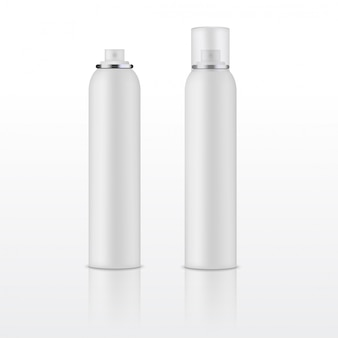 Blank template of white deodorant bottle vector.