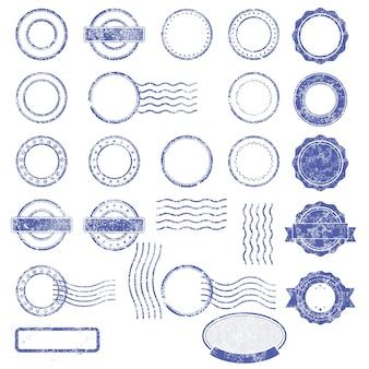 ぼろぼろの郵便切手の空白のテンプレート