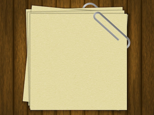 Blank for text. crafting paper. template for your design. on wood background. realistic style.vector illustration.