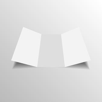 Blank three folded fold paper leaflet