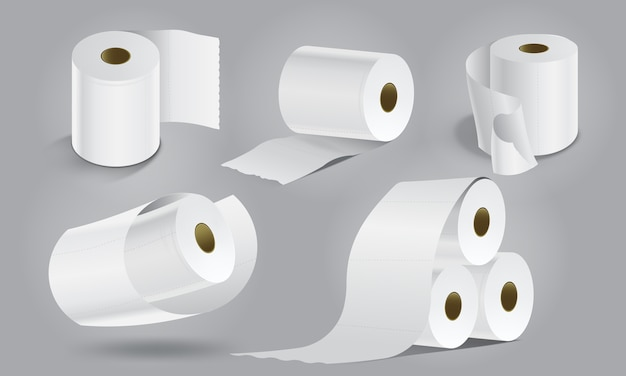 Blank toilet papers