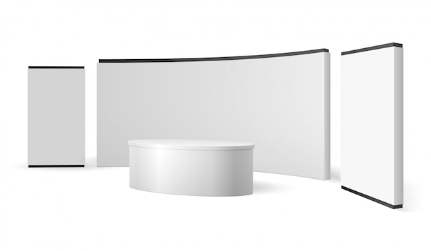 Blank trade show booth promotional display