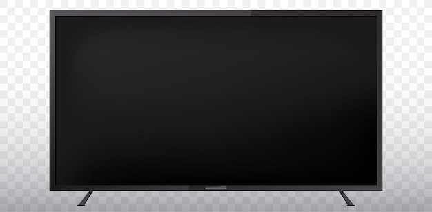 Blank tv screen  illustration  with transparent background
