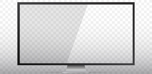 Blank tv screen  illustration  with transparent screen and background