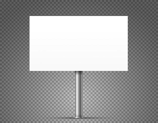 Blank urban advertising billboard vector isolated on transparent