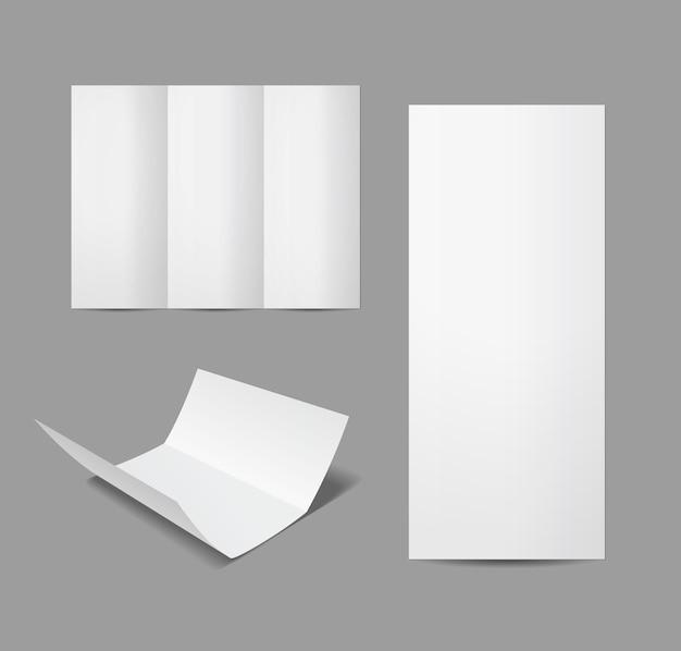 白の孤立した空白のベクトルパンフレット
