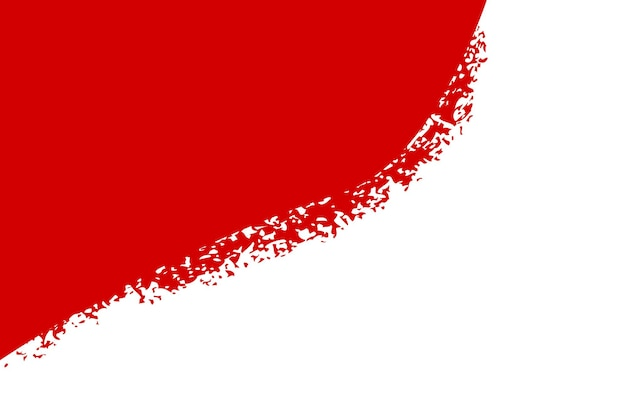 Blank vector template background, indonesia independence day in august element design with crayon effect