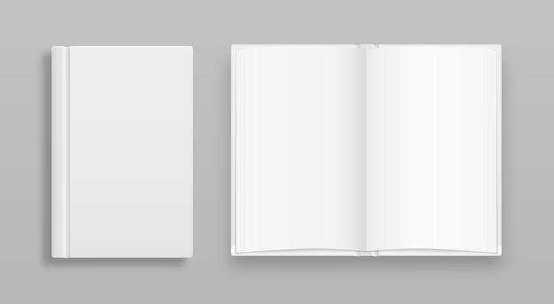 Пустой вертикальный шаблон обложки книги со страницами впереди