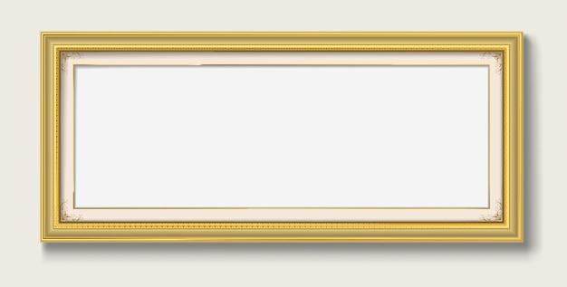 Blank vintage picture frame
