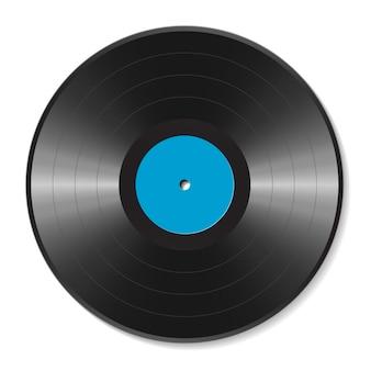 Blank vinyl disc illustration
