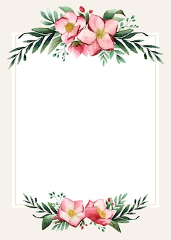 Blank wedding card design