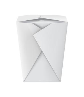 Blank white 3d model cardboard noodle package
