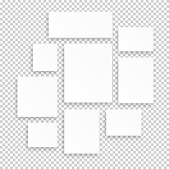 Blank white 3d paper canvas