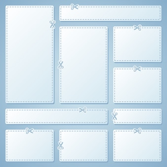 Blank white advertising coupons