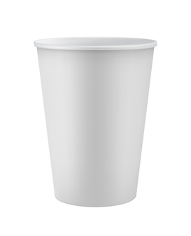 Blank white disposable  cup