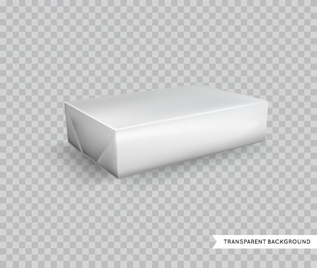 Пустая белая фольга пищевая упаковка llustration изолированные макет шаблона готовый для нестандартной конструкции