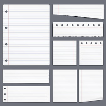 Blank white lined paper