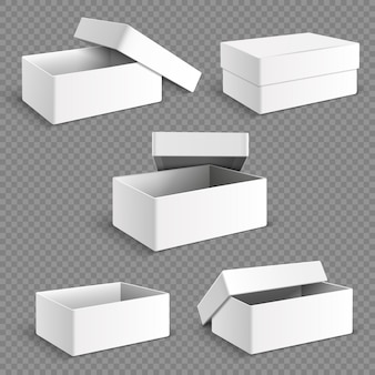 Blank white packaging paper box