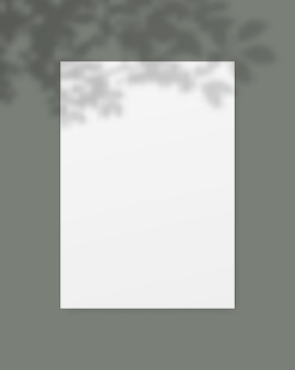 Blank white paper with shadow overlay.