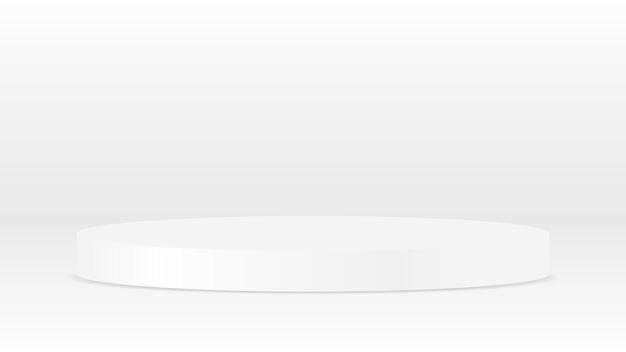 ショーの高級品の広告のための空白の白い台座ディスプレイ