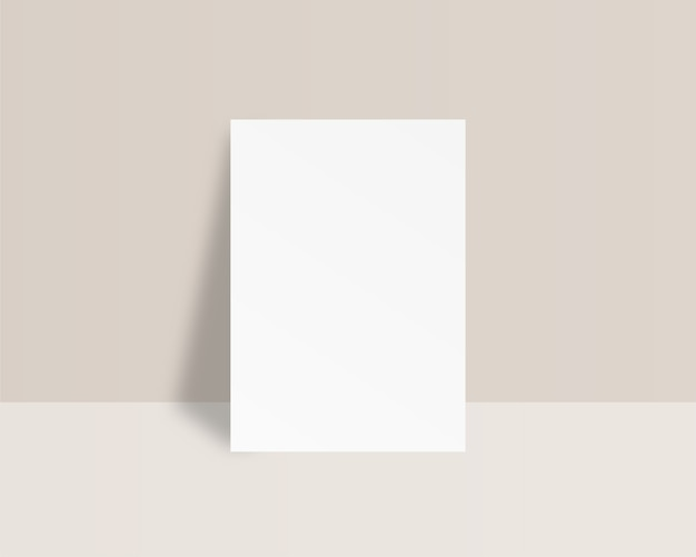 Blank white sheet of paper . empty paper template.   . template . realistic  illustration.