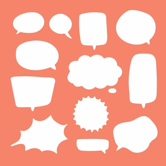 Blank white speech bubbles.