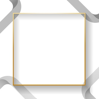空白の白い正方形の抽象的なフレーム