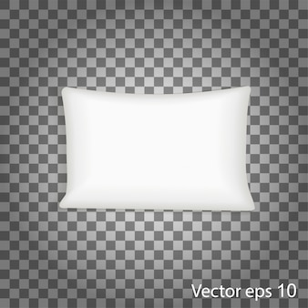 Blank white square pillow.