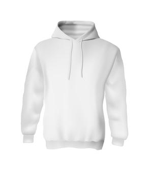 Blank white sweatshirt hoodie mockup for branding isolated