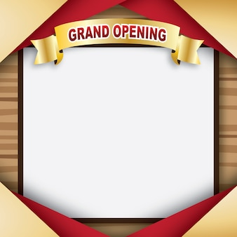 Blank wood board for grand opening vector illustration