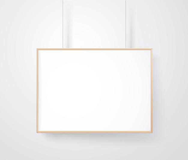 벽 벡터 모형에 빈 나무 프레임입니다. 콘텐츠 준비