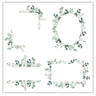 Blank wreath frame with green eucalyptus