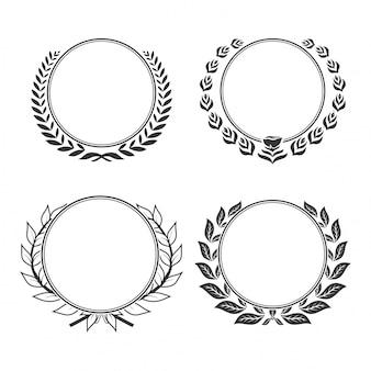 空白の花輪