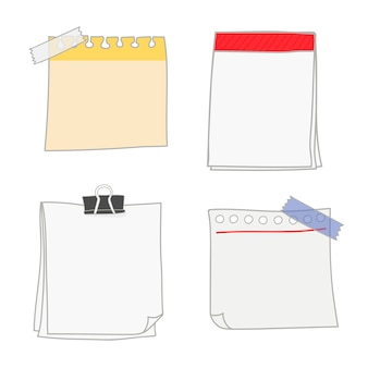Blank writing paper collection