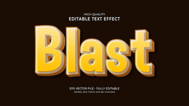 Blast text style effect.editable game font effect Premium Vector