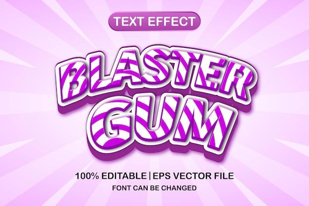 ブラスターガム3d編集可能なテキスト効果