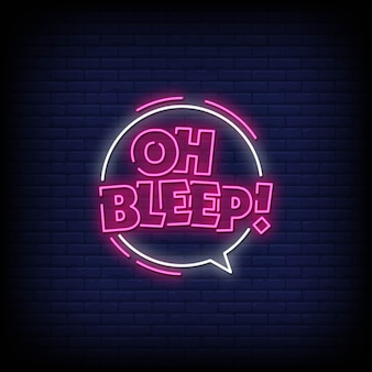 Bleep neon signs стиль текст