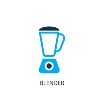 믹서기 아이콘입니다. 로고 요소 그림입니다. 2가지 색상 컬렉션의 블렌더 기호 디자인입니다. 간단한 블렌더 개념입니다. 웹 및 모바일에서 사용할 수 있습니다.