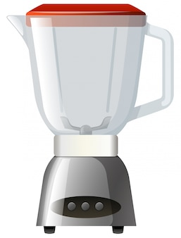 Blender with red lid