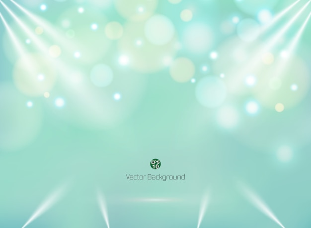Blending green mint color background with colorful circle bokeh business backdrop.