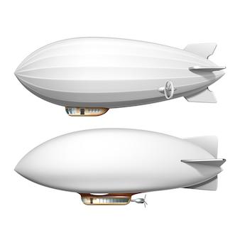 소형 연식 비행선 빈 헬륨 비행선 수송 세트