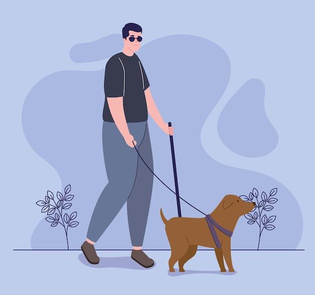 걷는 시각 장애인